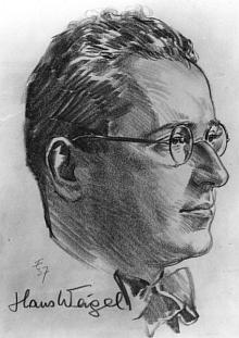 Na kresbě datované roku 1937 s jeho podpisem