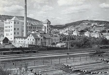 """Za někdejší vimperskou továrnou na výrobu prádla Joss&Löwenstein (později Walter Seidensticker, ještě později až do zániku Šumavan Vimperk, dnes Siewer - správa majetku) se připohledu od nádraží zvedá les řečený """"Hochholz"""""""