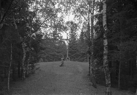 I ve fotobance Musea Fotoateliér Seidel najdeme snímek z vimperské Kalvárie