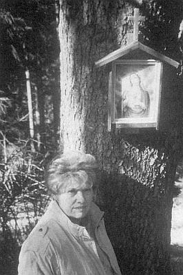 U obrázku, dokud na stromě ještě visel