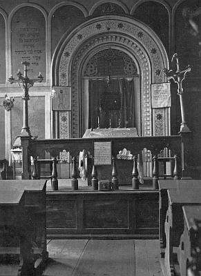 Synagoga ve Všerubech byla postavena ještě za jeho života, během tzv. Křišťálové noci v listopadu 1938 ji však vypálila nacistická lůza