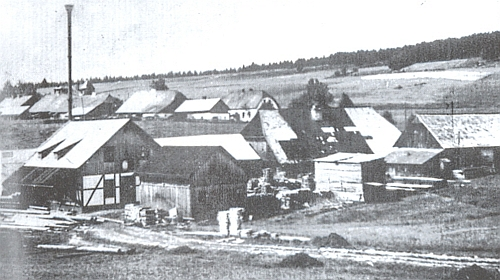 Strunzova pila ve Vesce (Dörfl) v místech, kde stával nejstarší kvildský mlýn