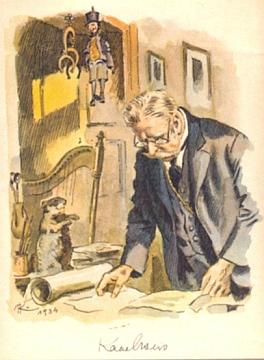 Na další kresbě Adolfa Kašpara