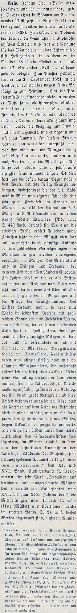 Jeho životopis na stránkách Wurzbachova lexikonu významných rakouských osobností