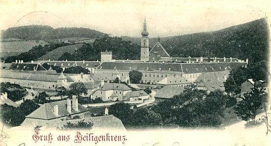 Klášter Heiligenkreuz na staré pohlednici