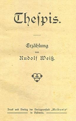 """Titulní list jeho knihy vydané českobudějovickým nakladatelstvím """"Moldavia"""""""
