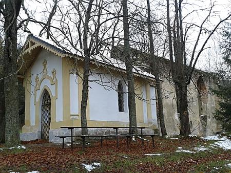 Zřícenina jím v roce 1644 založeného poutního kostela sv. Víta u Habří v Blanském lese - byl uzavřen zajosefinských reforem roku 1787 a poté postupně chátral;  přilehlá kaple Nejsvětější Trojice byla postavena jako náhrada v roce 1890