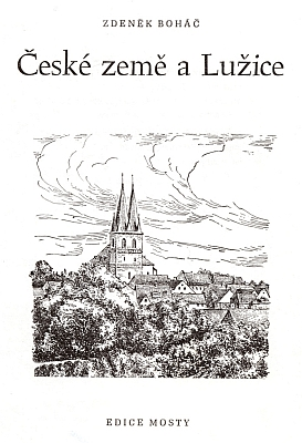 """Georgův rodný Kulow (Wittichenau) na titulním listě brožury """"České země a Lužice"""""""