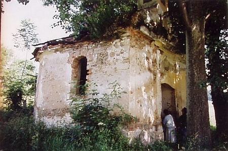 Stav kaple před renovací v roce 1993