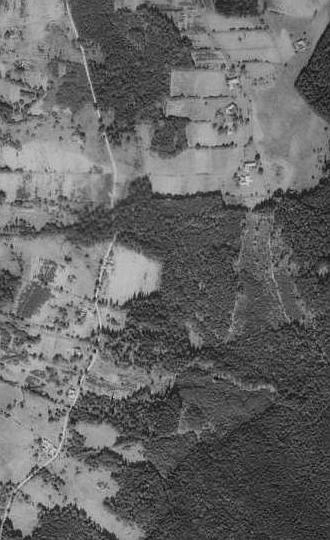 Ludvické Hory na leteckých snímcích z let 1952 a 2008