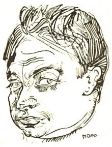 Na kresbě Maxe Oppenheimera (1885-1954)
