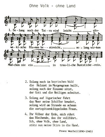 """Takto zhudebnil jeho verše Alois Ernst Milz ve svém sborníku písní ke """"chvále domova"""""""