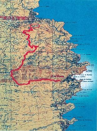 Jeho cesta z Francie přes Pyreneje do Španělska, odkud na podzim 1940 odplul do USA