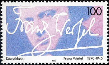 Německá poštovní známka k 50. výročí jeho úmrtí
