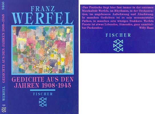 Obálka (1996) výboru z jeho básní, který sám sestavil, s použitím obrazu Paula Kleea v proslulé paperbackové edici Fischer Taschenbücher, v níž je i báseň z naší textové ukázky