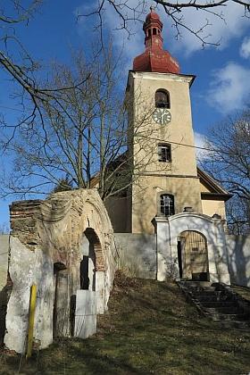 Kostel sv. Osvalda v rodných Nebanicích
