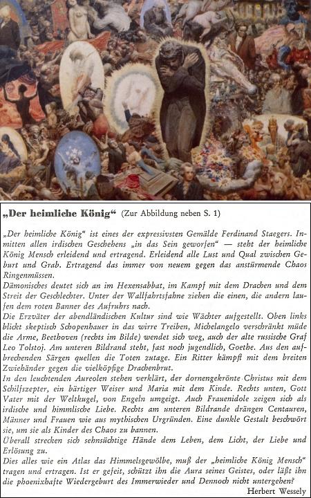 Jeho komentář ke stejnojmennému obrazu Ferdinanda Staegera (1880-1976), rodáka z Třebíče