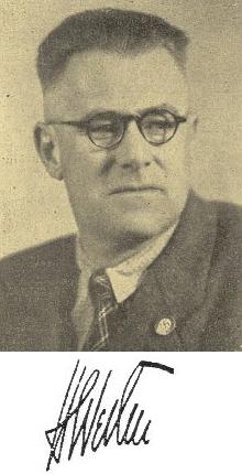 S nacistickým odznakem (viz i Friedrich David)