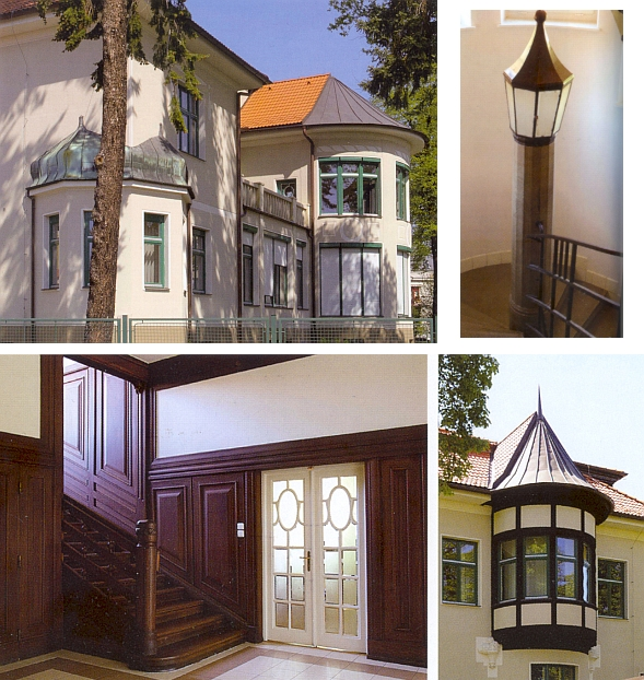 Několik záběrů Westenovy vily zevně i uvnitř