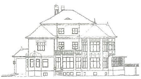 Westenova vila v Českých Budějovicích podle projektu vídeňských architektů Hanse Dworzaka a Pompea rytíře von Wolffa