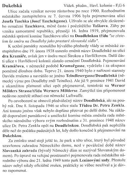Z historie Českých Budějovic na příkladu Dukelské ulice, kde vila stojí