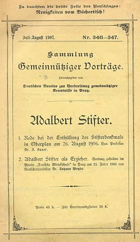 Obálka (1907) nového vydání téže přednášky