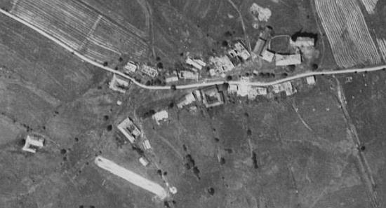 Kapličky na leteckých snímcích z let 1952 a 2008