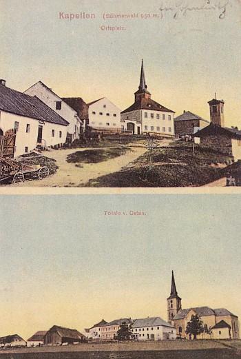 Kapličky na starých pohlednicích