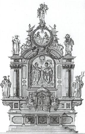 Ztracený oltář kostela v Kapličkách pocházel z roku 1896 a byl dílem Josefa Rifessera, řezbáře ze Sankt Ulrich (Gröden) v Tyrolích, zpodobuje pak nahoře sv. Leopolda, pod ním Nejsvětější Trojici, vlevo nahoře sv. Linharta, vpravo nahoře sv. Jana Nepomuckého, na reliéfu uprostřed patrony kostela sv. Jana a Pavla, vlevo dole sv. Bernarda a vpravo dole sv. Benedikta