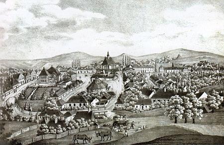 Rodná haličská Bochnia na vyobrazení z 19. století