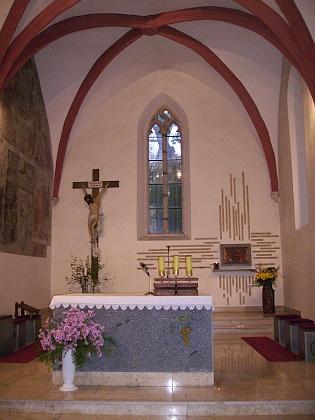 Interiér kostela v současnosti