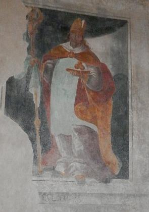Freska sv. Mikuláše z první poloviny 17. století, objevená při rekonstrukci