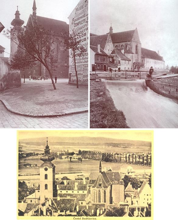 Klášterní kostel Obětování Panny Marie na fotografiích z počátku 20. století...