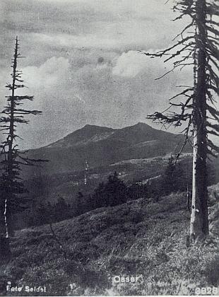 Hora Ostrý na pohlednici firmy Seidel