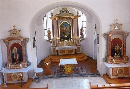 Kostel sv. Jana Křtitele v Maxově kdysi a dnes