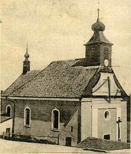 Kostel sv. Anny na výřezu ze staré pohlednice