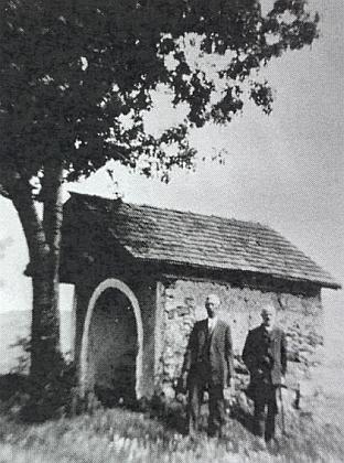 Dnes zbořená kaple zvaná Vätenwülflkapelle urodného Nového Spálence (Neu-Prennet)