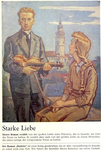 Obálka (1965) jednoho z Wiererových románů, vycházejících na pokračování v Glaube und Heimat, zachycuje zde na pozadí Českého Krumlova jeho samotného jako mladého adepta kněžství