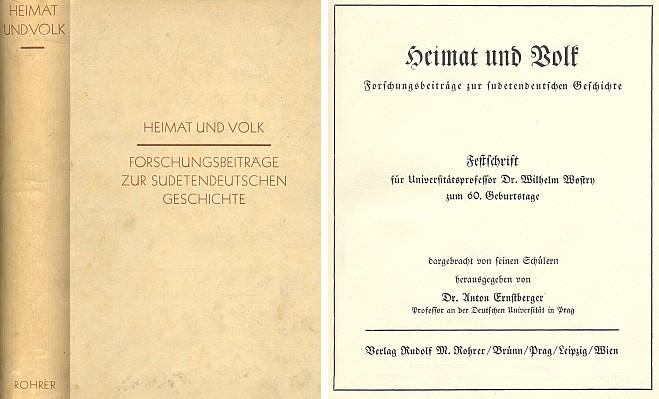 Vazba (1937) a titulní list knihy, v níž jeho studie vyšla (nakladatel Rudolf M. Rohrer, Brno)