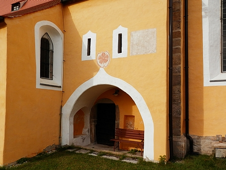 Jedno z děl církevní výstavby v jižních Čechách, uvedené v jeho práci: starobylý kostel sv. Máří Magdalény v Černici, kdysi na česko-německém jazykovém pomezí