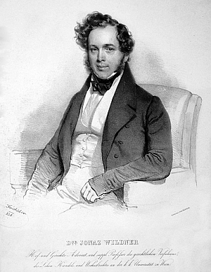 Na litografii Josefa Kriehubera (1800-1876) z roku 1838