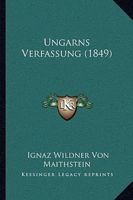 Obálky dvou novějších vydání jeho práce (1849) o uherské ústavě (2010, Kessinger Publishing a 2018, Forgotten Books)