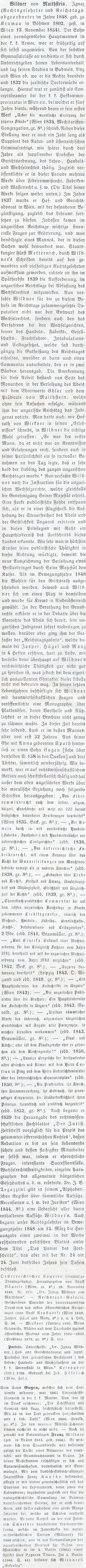O něm ve Wurzbachově lexikonu významných osobností rakouského mocnářství