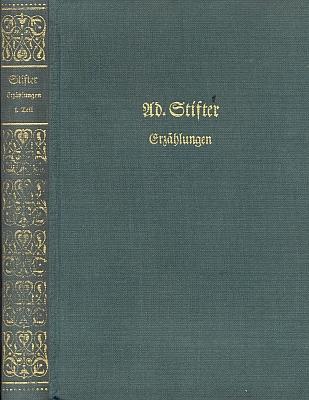 Vazba tohoto 13. svazku (1. díl Povídek) souborného vydání díla Adalberta Stiftera, který vydalo rakouské nakladatelství Stiasny veŠtýrském Hradci roku 1958