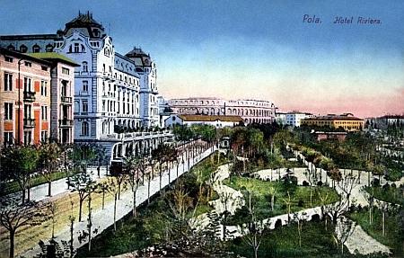 Pohlednice z rodné chorvatské Puly z počátku 20. století
