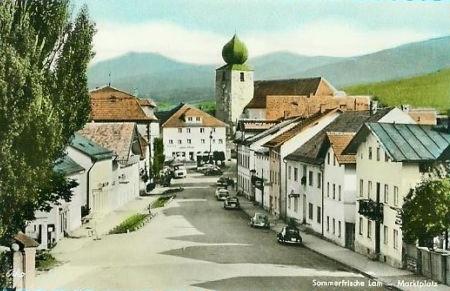 Lam na staré pohlednici