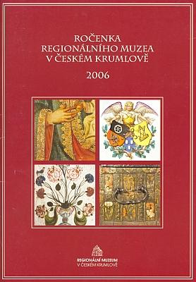 Obálka Ročenky Regionálního muzea v Českém Krumlově (2006), kde vyšel příspěvek oněm
