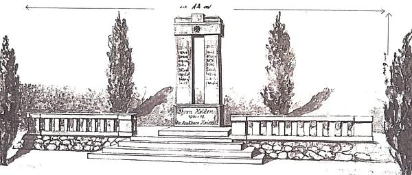 Památník padlým v první světové válce v Železné Rudě, který navrhl i provedl se svými dělníky