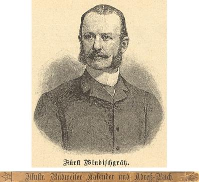"""Jeho portrét v """"Ilustrovaném Budějovickém kalendáři a adresáři na rok 1895"""""""