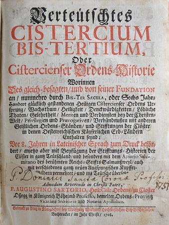 Madona kájovská na ilustraci knihy o historii cisterciáků z fondu Jihočeské vědecké knihovny